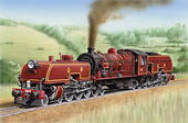 Beyer Garratt  Copyright Locomotive Art    Click for larger image