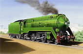 C38 Pacific  Copyright Locomotive Art    Click for larger image